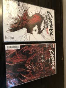 Carnage Black, White & Blood #1 Variant and #2 VF/NM