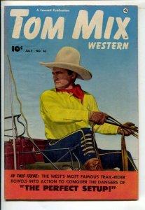 Tom Mix Western #43 1951-Fawcett-Photo cover -Carl Pfeufer story art-FN-
