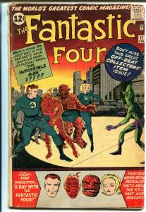 Fantastic Four #11 1962-Marvel-Impossible Man-Jack Kirby-Submariner-GOOD/VG