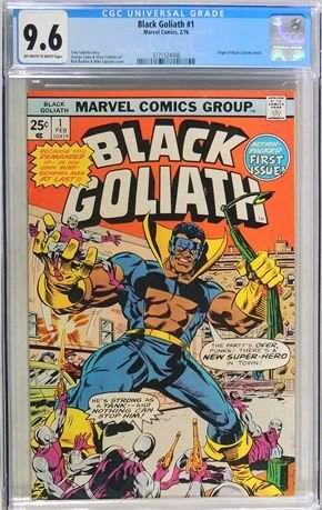 Black Goliath #1 (1976) CGC Graded 9.6