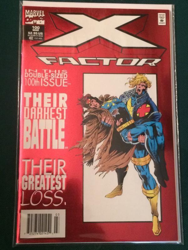X-Factor #100 Double Size Issue metallic/embossed cover