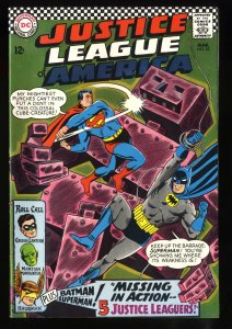 Justice League Of America #52 VF+ 8.5 White Pages