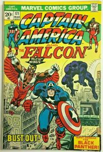 CAPTAIN AMERICA#171 FN/VF 1974 FALCON'S WINGS MARVEL BRONZE AGE COMICS