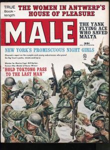MALE MAGAZINE NOVEMBER 1962- WAR-CRIME-CHEESECAKE PICTURES- FN/VF