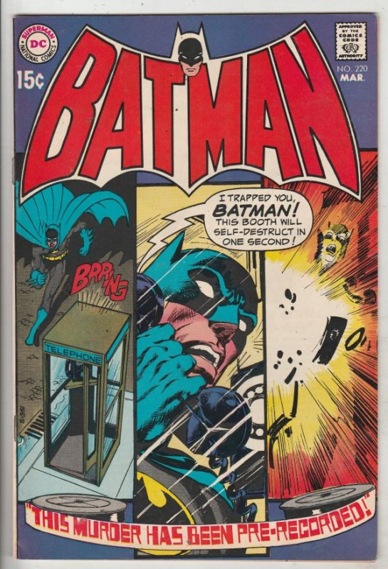 Batman #220 (Mar-70) NM+ Super-High-Grade Batman