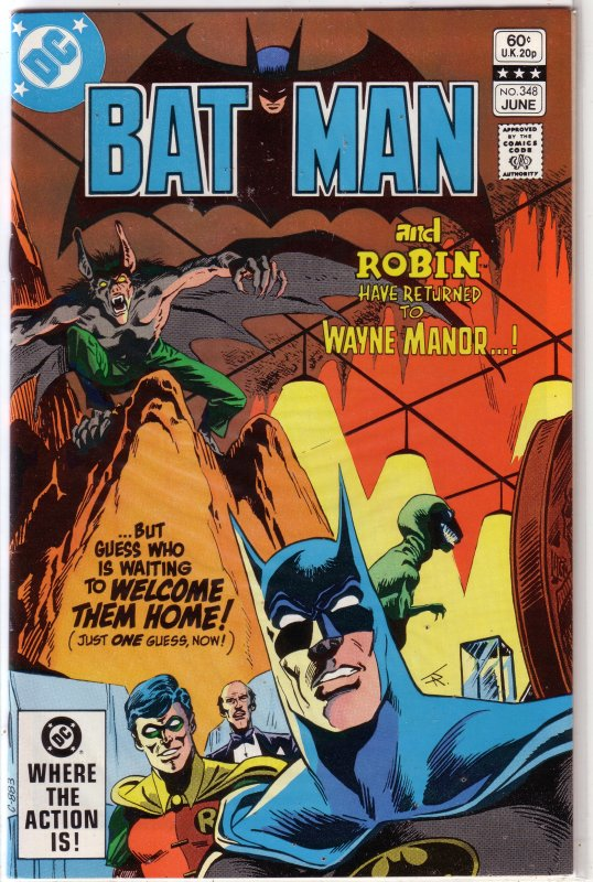 Batman   vol. 1   #348 FN Catwoman, Conway/Colan, Aparo cover, Jason Todd