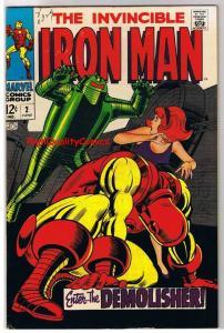 IRON MAN #2, VF/NM, Tony Stark, Demolisher Robot, 1968, more IM in store