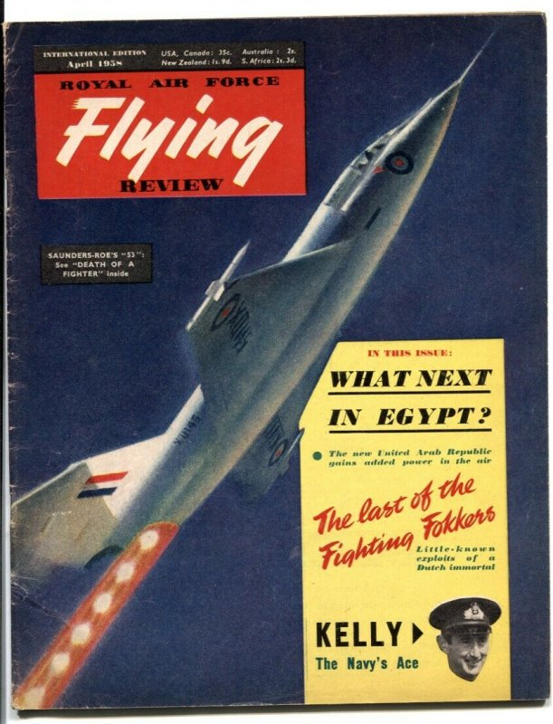 Royal Air Force Flying Review April 1958- Fokkers