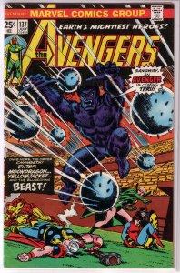 Avengers   vol. 1   #137 GD Englehart/Tuska, Romita cover, Beast