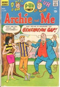 ARCHIE & ME (1964-1987)  24 G-VG Oct. 1968 COMICS BOOK