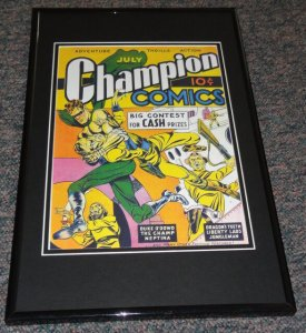 Champion Comics #9 Framed 9x12 Cover Poster Photo Jack Kirby