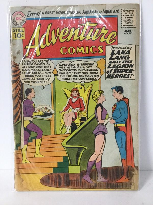 Adventure Comics 282 1 5 Cover Barely Attached Water Damage