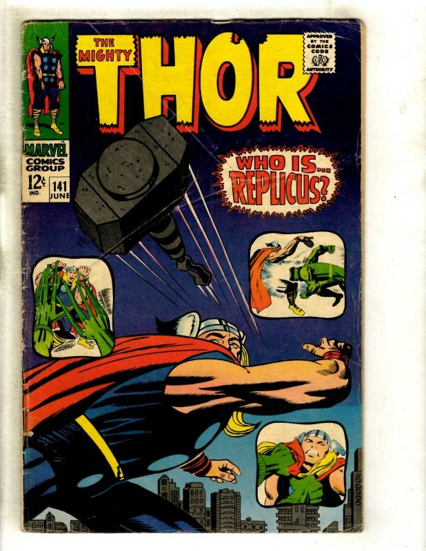 Thor # 141 FN- Marvel Comic Book Loki Odin Sif Avengers Hulk Iron Man GK4