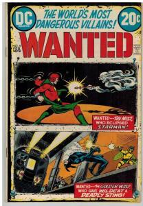 WANTED (1972)  6 VG-F Feb 1973 Starman, Wildcat/Whisp