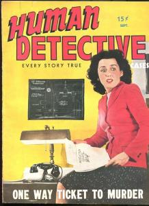 HUMAN DETECTIVE CASES SEP 1943-MAGAZINE-CRIME-PULP-CASE OF THE ZOOT SUIT K G/VG