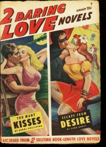 2 DARING LOVE NOVELS 1948 JAN #1 HEADLIGHT SWIMSUIT COV VG/FN