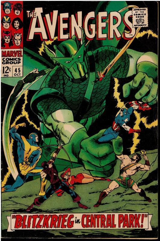 Avengers #45, 5.0 or Better *KEY* Hercules Joins the Avengers