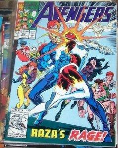 Avengers # 351  1992, Marvel star jammers captain ms marvel aka binary