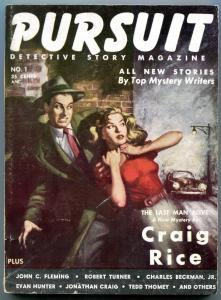 Pursuit Detective Story Pulp Digest #1 September 1953- Craig Rice FN