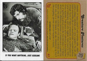 2013 Topps 75th Anniversary #57 Creature Features > Frankenstein > 1973