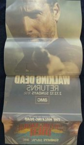 WALKING DEAD FOR YOUR WINDOW Cling Promo Poster, 13 x 27, 2012, AMC Unused 583