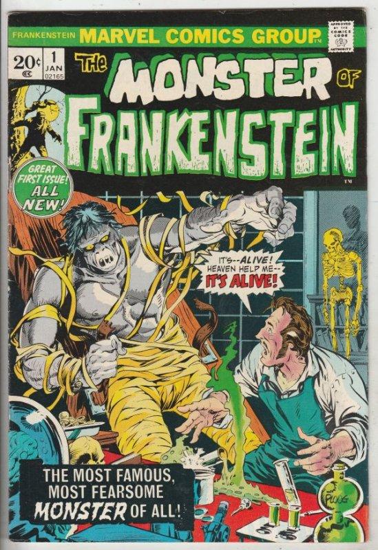 Frankenstein, the Monster of #1 (Jan-73) NM- High-Grade Frankenstein