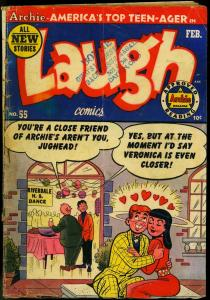 Laugh Comics #55 1953- Archie- Betty & Veronica- Golden Age G