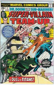 Super-Villian Team-Up #4 (Feb-76) VF/NM High-Grade Namor the Sub-Mariner, Doc...
