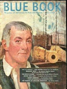 BLUE BOOK PULP-NOV 1951-GUSTAVSON COVER-PAUL REVERE-NELSON BOND-COHEN-PEACOCK VG