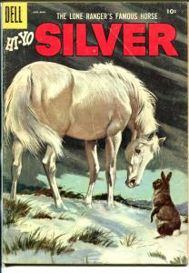 Lone Rangers Famous Horse Hi-Yo Silver-#21 1957-Dell-painted cover-VG/FN