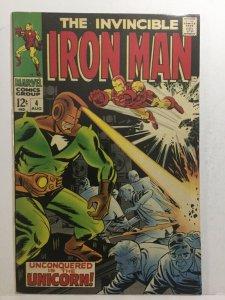Iron Man 4 Vf+ Very Fine+ 8.5 Marvel Comics