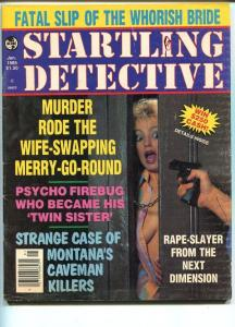 STARTLING DETECTIVE -JAN 1985-HARD BOILED-SPICY-MURDER-RAPE-STRANGULATION G/VG