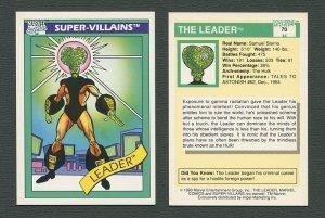 1990 Marvel Comics Card  #70 (Leader) / NM