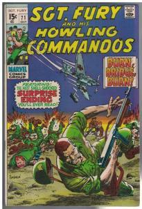 SERGEANT FURY 71 VG-F COMICS BOOK