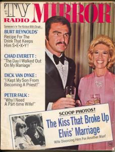 TV Radio Mirror-Burt Reynolds-Dinah Shore-Elvis-Peter Falk-April-1974