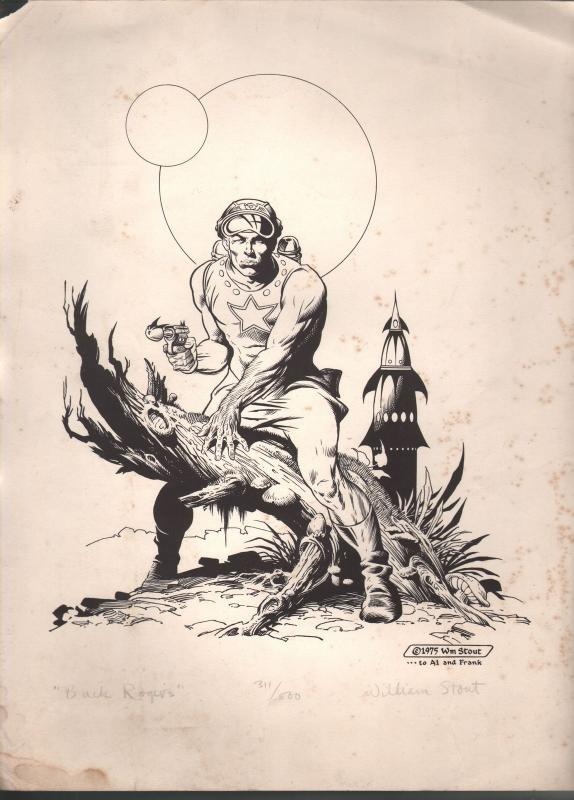 William Stout Buck Rogers Limited Signed Print  #311 of 500-1975-G