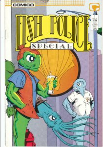 FISH POLICE #1, NM, Special, Comico, 1987, more in store