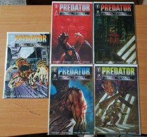 Predator Race War #0 + 1-4 Complete Set Run! ~ NEAR MINT NM ~ 1993 Dark Horse