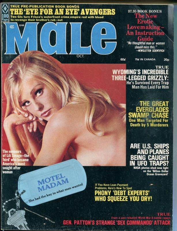 Male 10/1973-Atlas-pulp fiction-Pollen-Norem-cheesecake-classic issue-VG