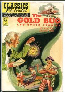 CLASSICS ILLUSTRATED #84-HRN 85-THE GOLD BUG-EDGAR ALLAN POE-HORROR-MYSTERY-vg