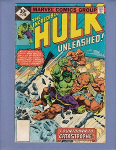Incredible Hulk #216 VG Marvel 1977