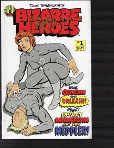Bizarre Heroes #1 (Kitchen Sink, 1990)) NM - Auto Ron Simpson