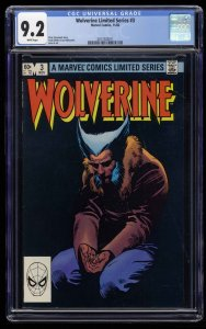 Wolverine Limited Series #3 CGC NM- 9.2 White Pages