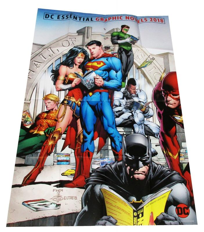 DC Essentials Finch Folded Promo Poster Batman Superman Flash (36x 24) New!