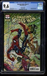 Amazing Spider-Man #1 CGC NM+ 9.6 1:1000 Larsen Remastered Color Variant