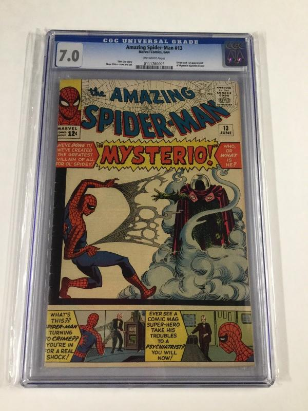 Amazing Spider-man 13 Cgc 7.0 Ow Pages 1st Appearance Of Mysterio