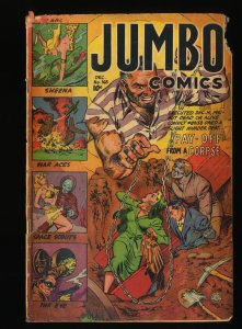 Jumbo Comics #165 GD 2.0 Horror Cover!
