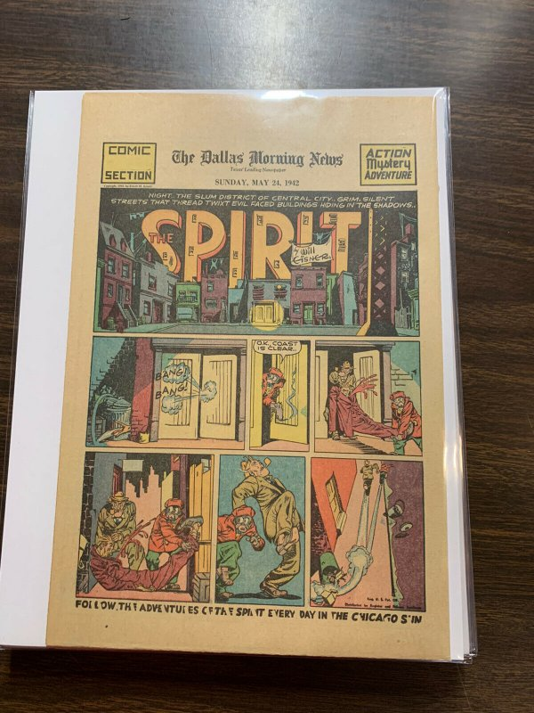 The Spirit Comic Book Section Newspaper Very Fine Or Better 1942 May 24