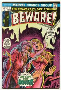 Beware #5 1973- Marvel Horror- headlight cover FN