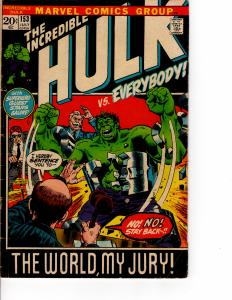 MARVEL The Incredible Hulk (1968 Series) #153 JUL 1972 VN+ Military Overseas Ed